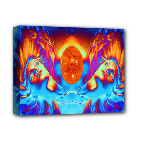 Escape From The Sun Deluxe Canvas 14  x 11  (Framed)