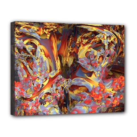 Abstract 4 Canvas 14  x 11  (Framed)