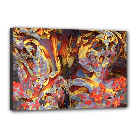 Abstract 4 Canvas 18  x 12  (Framed)