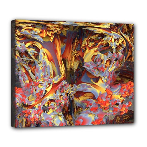 Abstract 4 Deluxe Canvas 24  X 20  (framed)