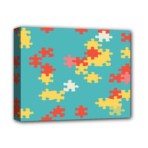 Puzzle Pieces Deluxe Canvas 14  x 11  (Framed)