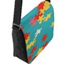 Puzzle Pieces Flap Closure Messenger Bag (Large) View2