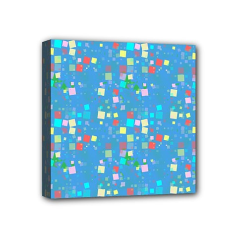Colorful Squares Pattern Mini Canvas 4  X 4  (stretched)