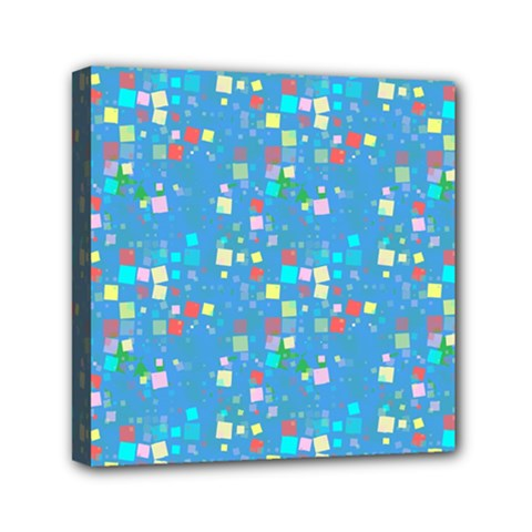 Colorful squares pattern Mini Canvas 6  x 6  (Stretched)