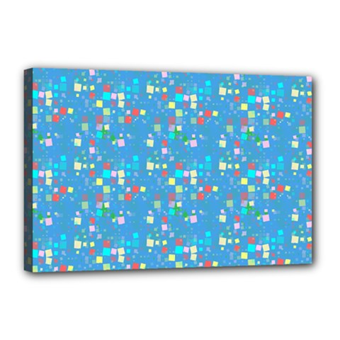 Colorful Squares Pattern Canvas 18  X 12  (stretched)