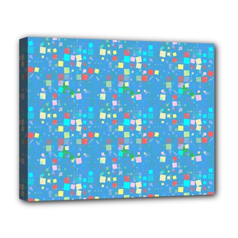 Colorful Squares Pattern Deluxe Canvas 20  X 16  (stretched)