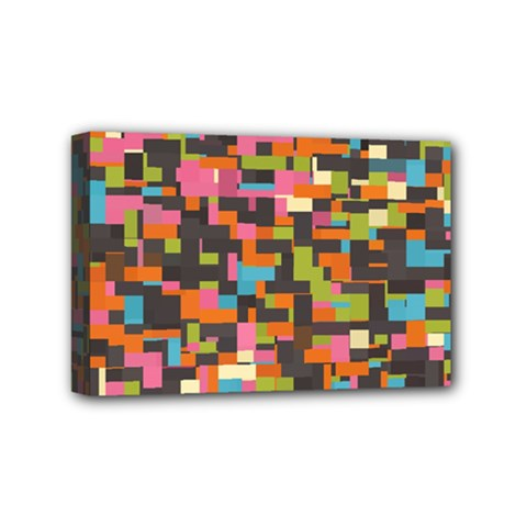Colorful Pixels Mini Canvas 6  X 4  (stretched)