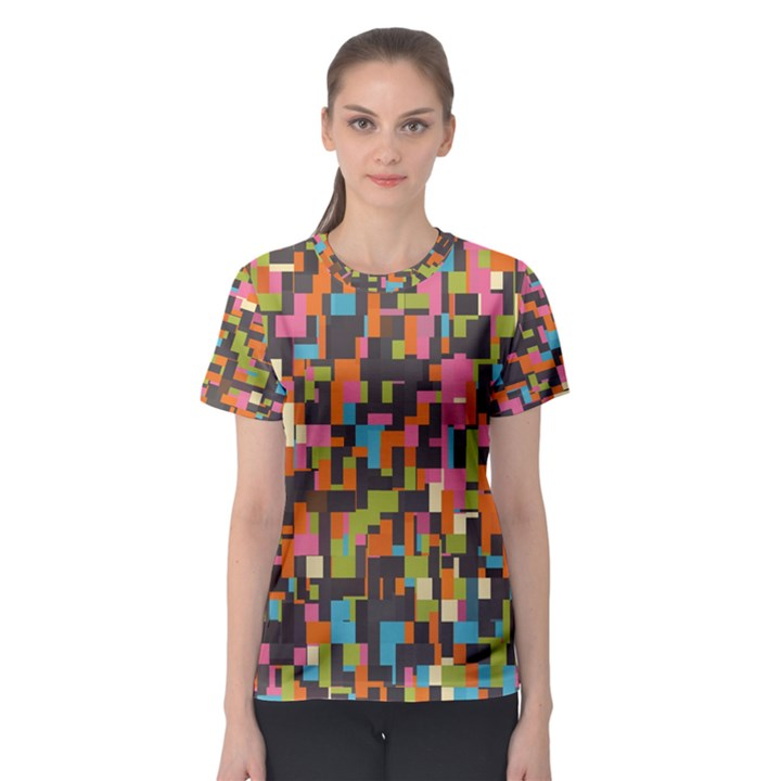 Colorful pixels Women s Full All Over Print Sport T-shirt