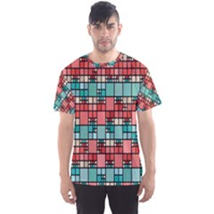 Red And Green Squares Men s Full All Over Print Sport T Shirt
