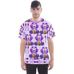 Fms Honey Bear With Spoons Men s Full All Over Print Sport T Shirt