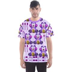Fms Honey Bear With Spoons Men s Full All Over Print Sport T-shirt