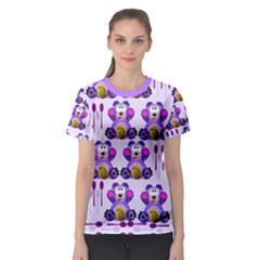 Fms Honey Bear With Spoons Women s Full All Over Print Sport T-shirt