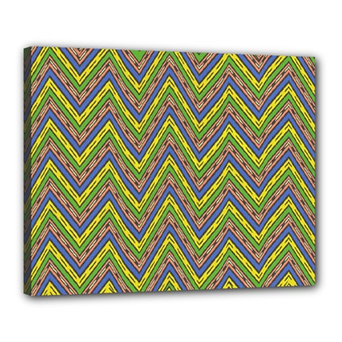 Zig Zag Pattern Canvas 20  X 16  (stretched)