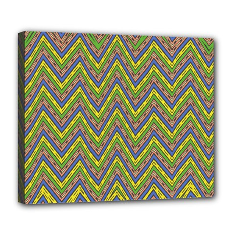 Zig Zag Pattern Deluxe Canvas 24  X 20  (stretched)