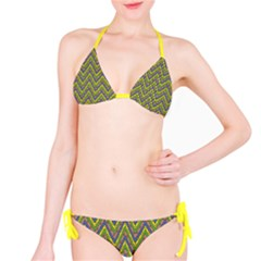 Zig zag pattern Full Set Bikini