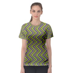 Zig zag pattern Women s Full All Over Print Sport T-shirt
