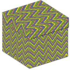Zig Zag Pattern Storage Stool 12