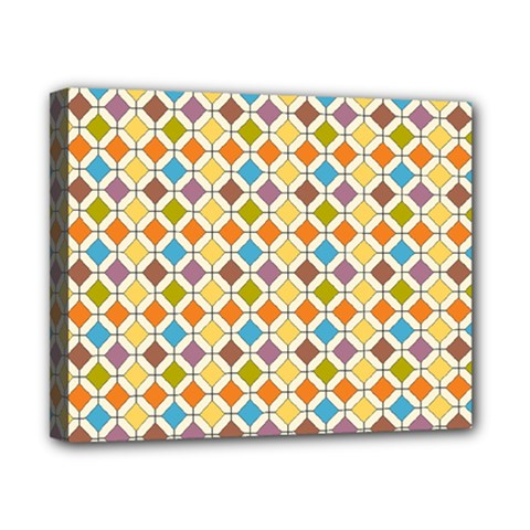 Colorful rhombus pattern Canvas 10  x 8  (Stretched)