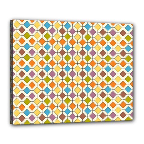 Colorful rhombus pattern Canvas 20  x 16  (Stretched)