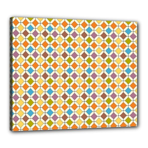 Colorful Rhombus Pattern Canvas 24  X 20  (stretched)