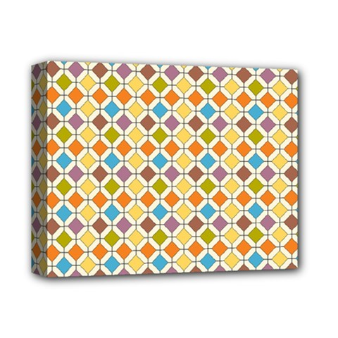 Colorful rhombus pattern Deluxe Canvas 14  x 11  (Stretched)