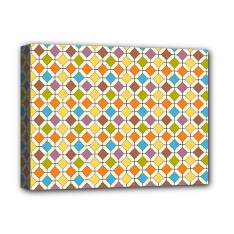 Colorful rhombus pattern Deluxe Canvas 16  x 12  (Stretched)