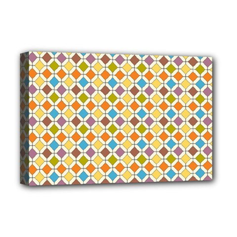 Colorful rhombus pattern Deluxe Canvas 18  x 12  (Stretched)