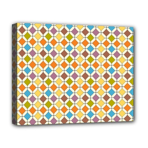 Colorful rhombus pattern Deluxe Canvas 20  x 16  (Stretched)