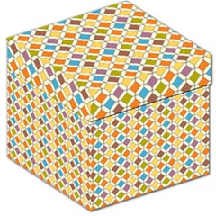 Colorful rhombus pattern Storage Stool 12