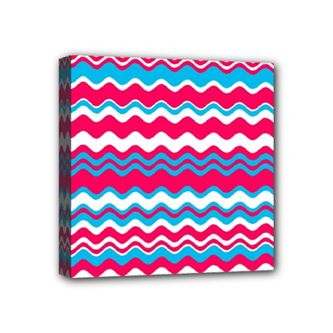 Waves Pattern Mini Canvas 4  X 4  (stretched)