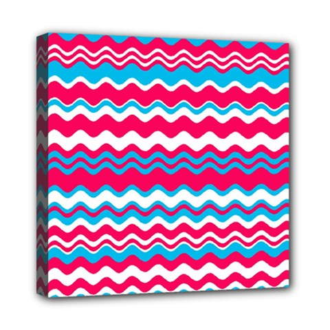 Waves pattern Mini Canvas 8  x 8  (Stretched)