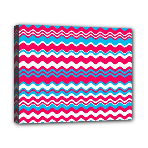 Waves pattern Canvas 10  x 8  (Stretched)