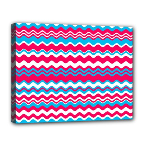 Waves pattern Canvas 14  x 11  (Stretched)