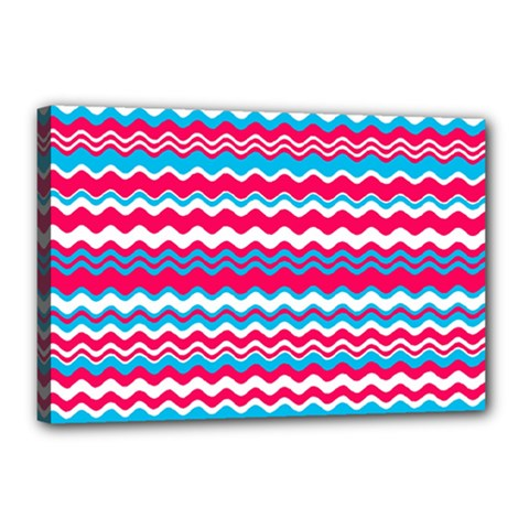 Waves Pattern Canvas 18  X 12  (stretched)