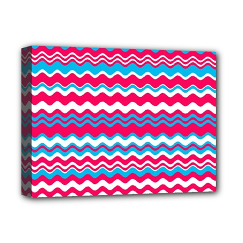 Waves Pattern Deluxe Canvas 16  X 12  (stretched)