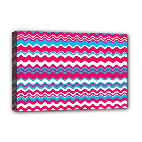 Waves pattern Deluxe Canvas 18  x 12  (Stretched)
