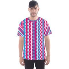 Waves Pattern Men s Full All Over Print Sport T Shirt
