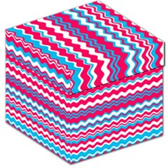 Waves Pattern Storage Stool 12