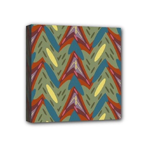 Shapes Pattern Mini Canvas 4  X 4  (stretched)