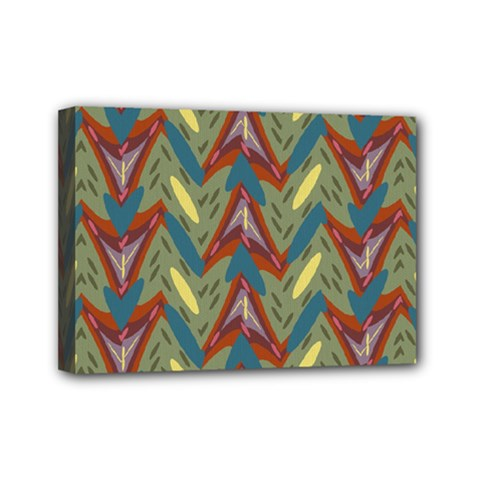 Shapes Pattern Mini Canvas 7  X 5  (stretched)