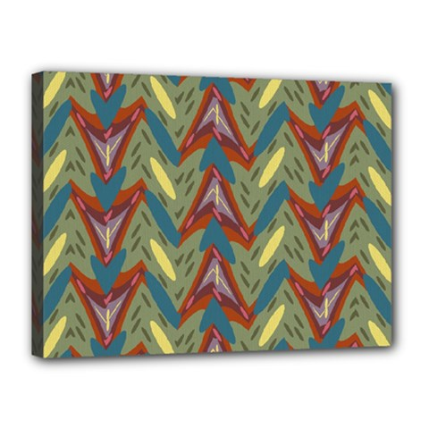 Shapes pattern Canvas 16  x 12  (Stretched)