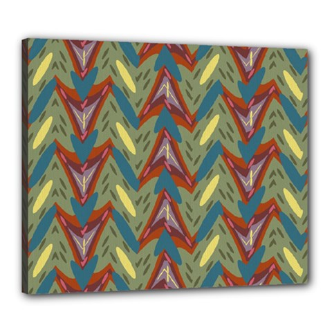 Shapes Pattern Canvas 24  X 20  (stretched)