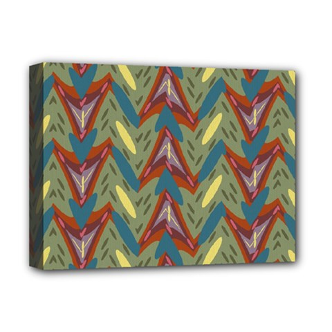 Shapes pattern Deluxe Canvas 16  x 12  (Stretched)