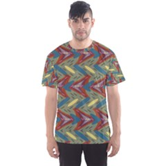 Shapes Pattern Men s Full All Over Print Sport T Shirt