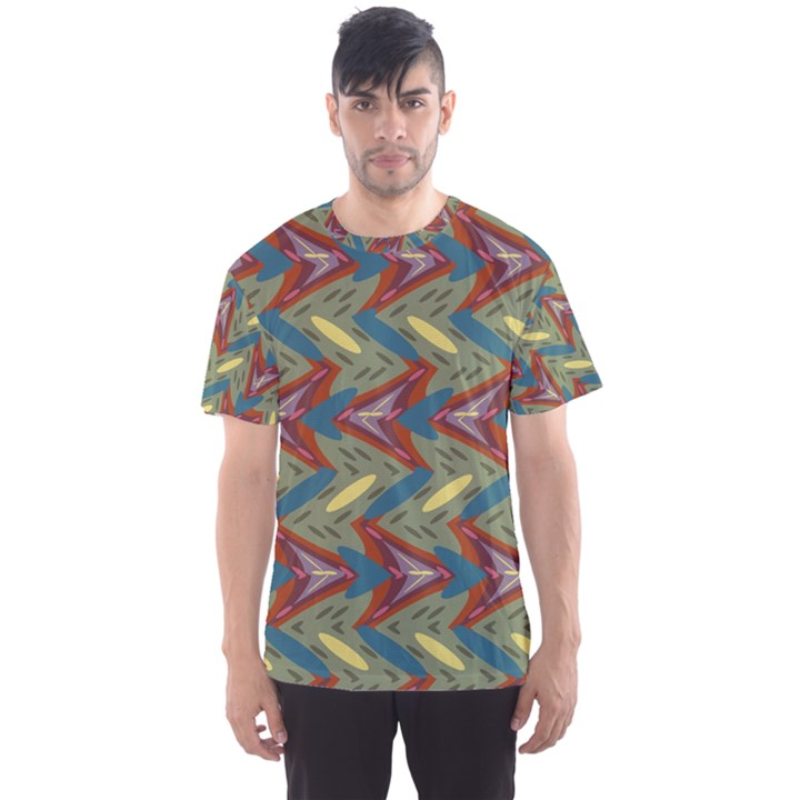 Shapes pattern Men s Full All Over Print Sport T-shirt
