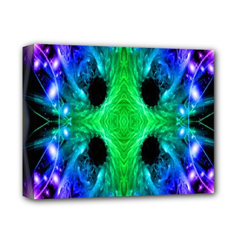Alien Snowflake Deluxe Canvas 14  X 11  (framed)