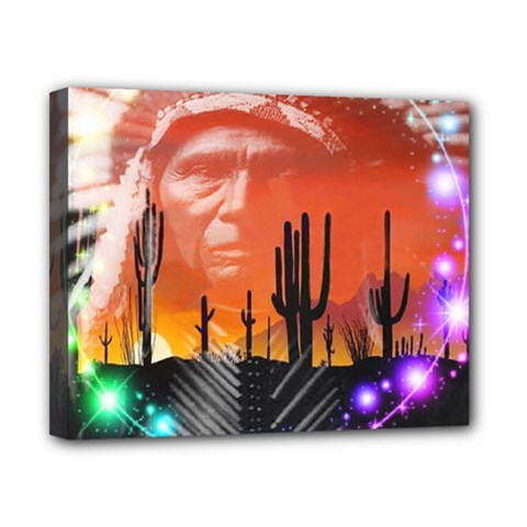 Ghost Dance Canvas 10  X 8  (framed)