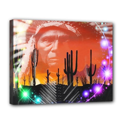 Ghost Dance Canvas 14  x 11  (Framed)