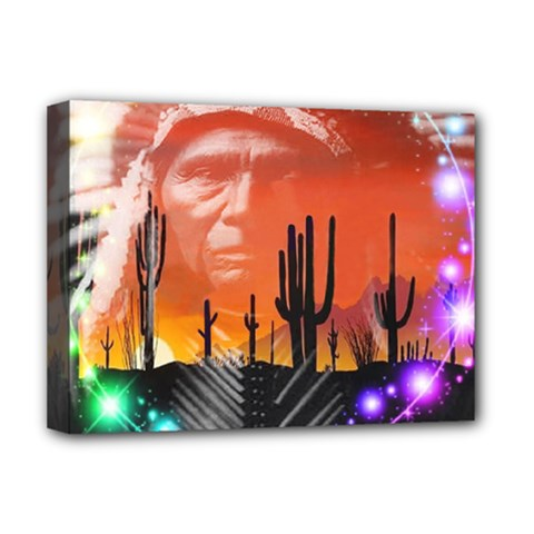 Ghost Dance Deluxe Canvas 16  X 12  (framed)