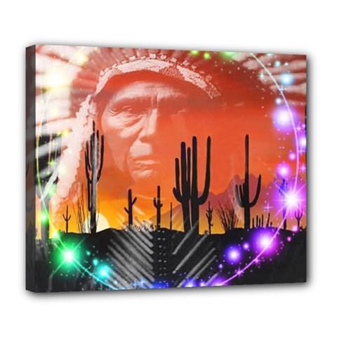 Ghost Dance Deluxe Canvas 24  X 20  (framed)